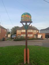 The Stanway Village sign is back and looking good!